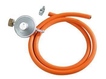 regulátor tlaku 30mbar s hadicí, regulátor tlaku 30mbar (3kPa), hadice na LPG 1,5m, vnitřní průměr