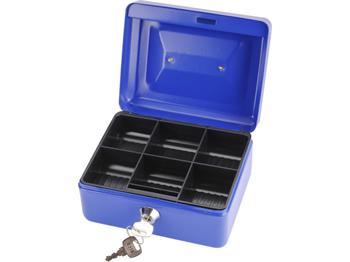 schránka na peníze přenosná s pořadačem, 152x118x80mm, 2 klíče, plastový pořadač na mince, EXTOL CR