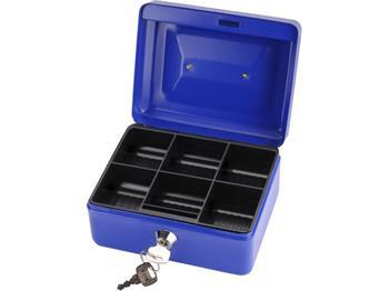 schránka na peníze přenosná s pořadačem, 200x160x90mm, 2 klíče, plastový pořadač na mince, EXTOL CR