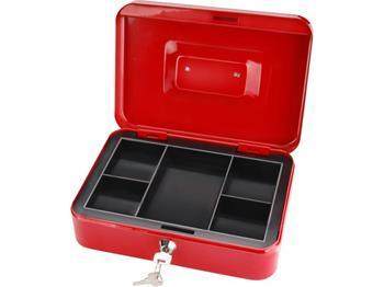 schránka na peníze přenosná s pořadačem, 250x180x90mm, 2 klíče, plastový pořadač na mince, EXTOL CR