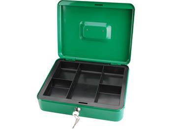 schránka na peníze přenosná s pořadačem, 300x240x90mm, 2 klíče, plastový pořadač na mince, EXTOL CR; 99013