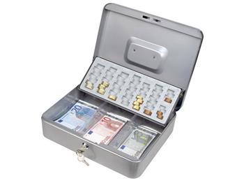 schránka na peníze EURO, 300x240x90mm, 2 klíče, plastový pořadač na mince, EXTOL CRAFT; 99017