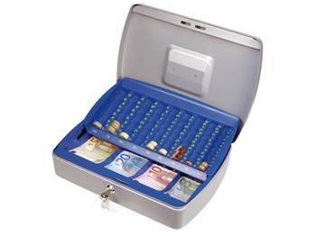 schránka na peníze EURO, 330x240x80mm, 2 klíče, plastový pořadač na mince, EXTOL CRAFT; 99018