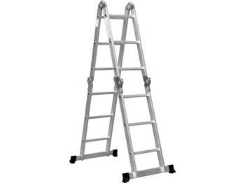 Extol žebřík aluminiový univerzální, 3,7m, výška žebříku: 3,7m (přímý žebřík), 1,8m (dvojitý žebřík), 3,2; 99580