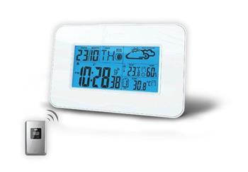 Solight meteostanice, velký LCD, teplota, vlhkost, RCC, bílá; TE66
