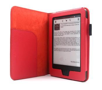 C-TECH PROTECT AKC-08, červené pouzdro pro Amazon Kindle 6 TOUCH, WAKE/SLEEP funkce
