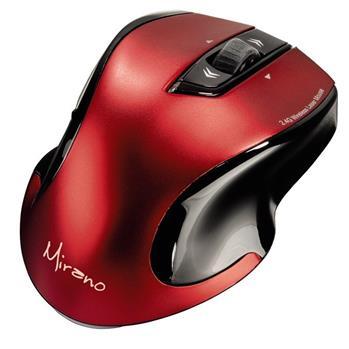 Mirano bezdrátová laserová myš, červeno-černá, tichá