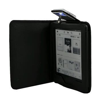 C-TECH PROTECT AKC-09, černé pouzdro pro Amazon Kindle 6 TOUCH s lampičkou, WAKE/SLEEP funkce; AKC-09BK