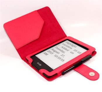 C-TECH PROTECT AKC-06, červené pouzdro pro Amazon Kindle PAPERWHITE/PAPERWHITE 2, WAKE/SLEEP funkce; AKC-06R