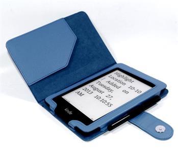 C-TECH PROTECT AKC-06, modré pouzdro pro Amazon Kindle PAPERWHITE/PAPERWHITE 2, WAKE/SLEEP funkce; AKC-06BL