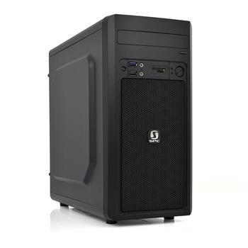 SilentiumPC skříň mATX Brutus S30 Pure Black/ bez zdroje/ USB 3.0/ čtečka SD/ černá