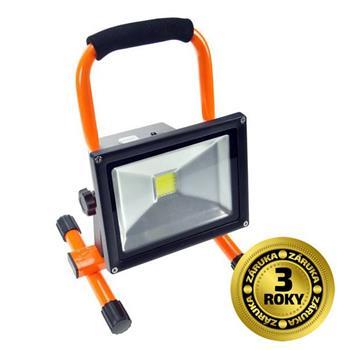Solight LED reflektor 20W, přenosný, nabíjecí, 1600lm, oranžovo-černý; WM-20W-D