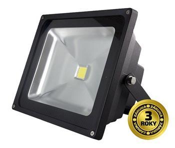 Solight LED venkovní reflektor, 30W, 2100lm, AC 230V, černá; WM-30W-E - LED venkovní reflektor 30W 2100lm AC 230V černá