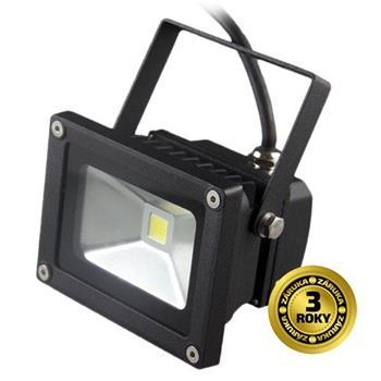 Solight LED venkovní reflektor, 10W, 700lm, AC 230V, černá