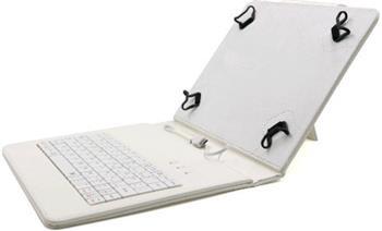 """C-TECH PROTECT NUTKC-01, bílé pouzdro univerzální s klávesnicí pro 7""""-7,85"""" tablety, FlexGrip; NUTKC-01W"""