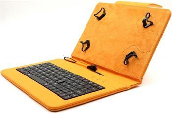 """C-TECH PROTECT NUTKC-01, oranžové pouzdro univerzální s klávesnicí pro 7""""-7,85"""" tablety, FlexGrip; NUTKC-01O"""