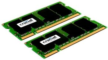 Crucial SODIMM DDR2 4GB KIT 667MHz CL5 CT2KIT25664AC667; CT2KIT25664AC667