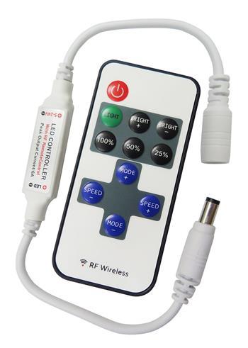 LEDme LED jednobarevný mini dálkový ovládač 72W; RC-RF-MINI