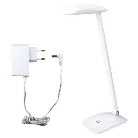 LED stolní lampička MA66 bílá s USB