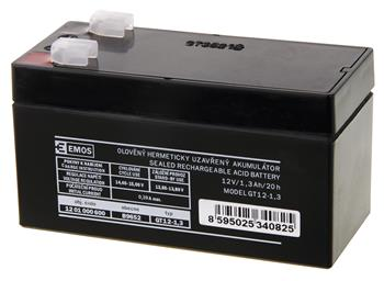Bezúdržbový olověný akumulátor 12V 1,3Ah; 1201000600