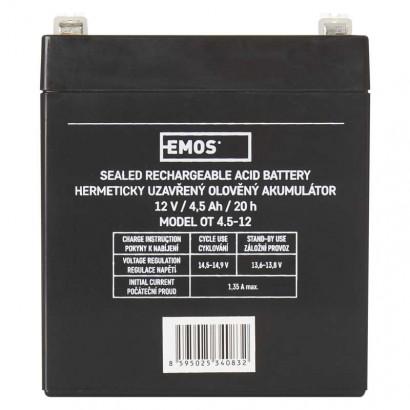 Bezúdržbový olověný akumulátor 12V 4,5Ah; 1201000700