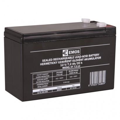 EMOS Bezúdržbový olověný akumulátor 12V 7,2Ah *B9654; 1201000800