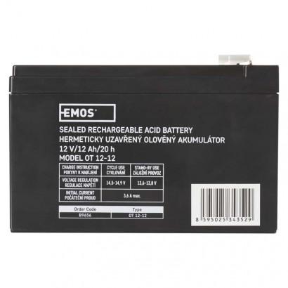 EMOS Bezúdržbový olověný akumulátor 12V 12Ah *B9656; 1201000850
