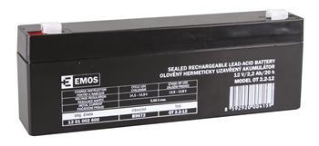 EMOS Bezúdržbový olověný akumulátor 12V 2,2Ah *B9672; 1201002600