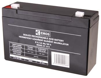 EMOS Bezúdržbový olověný akumulátor 6V 12Ah *B9682; 1201003500