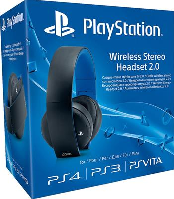 PS4 Wireless Stereo Headset 2.0 - BLACK