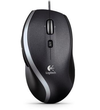Logitech Corded Mouse M500 - myš laserová, USB, černá; 910-003725