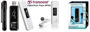 Transcend T-Sonic 330 8GB MP3; TS8GMP330K
