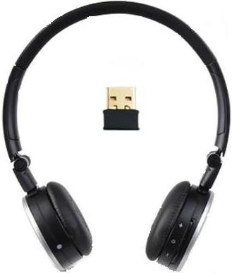 A4tech RH-300 bezdrátové sluchátka s mikrofonem, stříbrno-černé