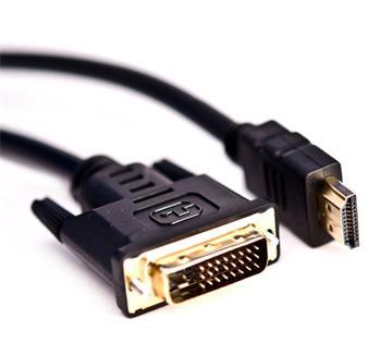 Crono kabel propojovací HDMI / DVI - video, HDMI samec , DVI 24 +1 samec, pozlacený, 1.8m