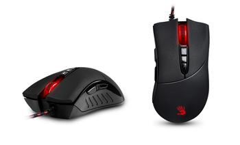 A4tech BLOODY V3 herní myš, až 3200DPI, V-Track technologie, 160KB paměť, USB, CORE 2, kovové podložky; V3M