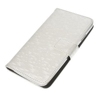 """Pouzdro BOOK GLAMMY velikost XL (5""""- 5,5"""") white; PBOGLAXLWH"""