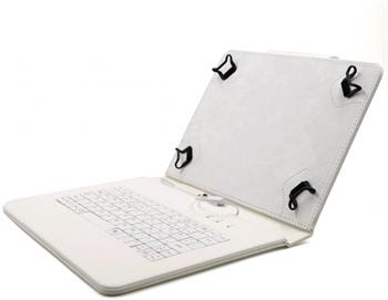 """C-TECH PROTECT NUTKC-04, bílé pouzdro univerzální s klávesnicí pro 9,7""""-10,1"""" tablety, FlexGrip; NUTKC-04W"""