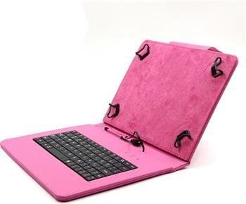 """C-TECH PROTECT NUTKC-04, růžové pouzdro univerzální s klávesnicí pro 9,7""""-10,1"""" tablety, FlexGrip; NUTKC-04P"""