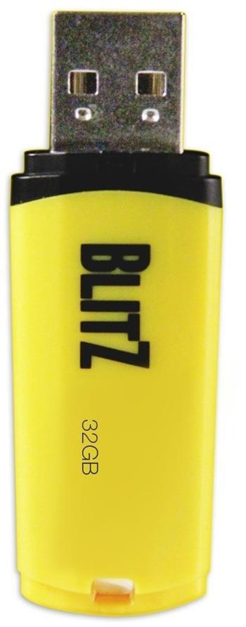 Patriot 32GB Blitz USB 3.0 žlutý, LED; PSF32GBLZ3USB