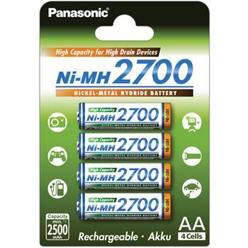 Baterie Panasonic AA 2700mAh 4ks; 3HGAE/4BE