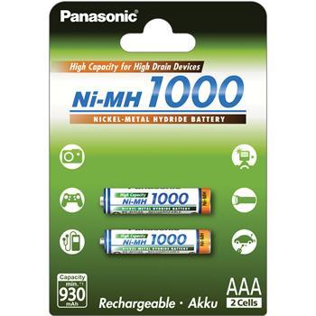 Baterie Panasonic AAA 1000mAh 2ks