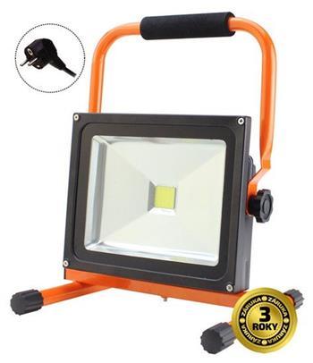Solight LED venkovní reflektor se stojanem, 20W, 1400lm, kabel se zástrčkou, AC 230V