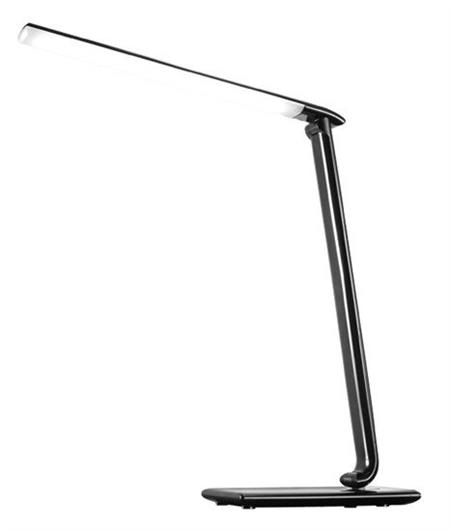 Solight LED stolní lampička, dotyková, 9W, volba teploty světla, černý lesk