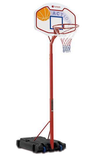 Koš basketbalový Garlando DETROIT se stojanem, výška 210-260cm