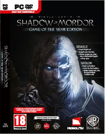 PC Middle-earth: Shadow of Mordor GOTY; 8595071033375