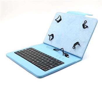"""C-TECH PROTECT NUTKC-01, modré pouzdro univerzální s klávesnicí pro 7""""-7,85"""" tablety, FlexGrip; NUTKC-01L"""