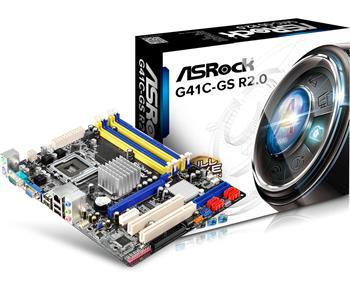 ASROCK MB G41C-GS R2.0 (775, intel, 2xDDR3+2xDDR2, VGA, PCIE SATA2+IDE, 5.1, GLAN, mATX)