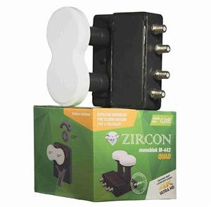 Zircon konvertor Monoblock Quad M-443 pro Skylink; LNBZIQUM01
