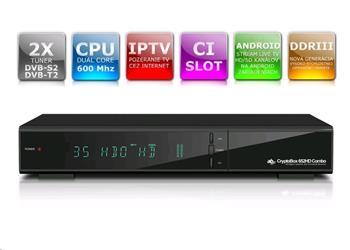 AB CryptoBox 652 HD Combo - satelitní příjmač; ABCR652
