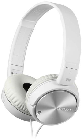 SONY MDR-ZX110NA, bílá; MDRZX110NAW.CE7